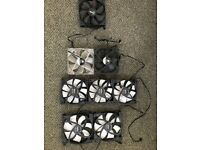 PC Case fans 6 x 120mm and 2 x 140mm