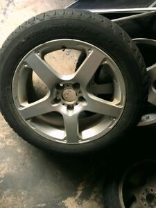 COOPER WINTER TIRES WITH ALLOY RIMS - 215/55R17