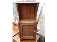 Antique Vintage Stripped Old Pine Small Bedside Table Cupboard Old English Penny suit Studio Flat