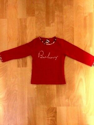 BURBERRY BABY GIRL RED TOP 18 MONTHS