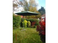Large adjustable patio garden umbrella and base