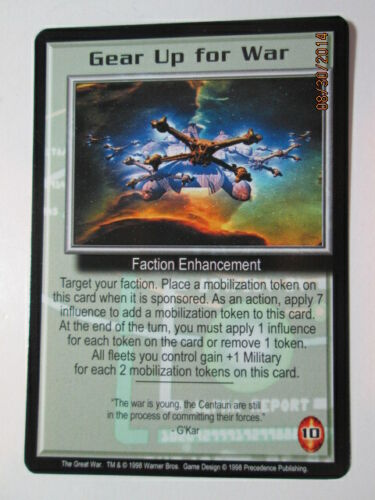 1998 BABYLON 5 CCG - THE GREAT WAR - RARE CARDS - G to O - PICK ONE