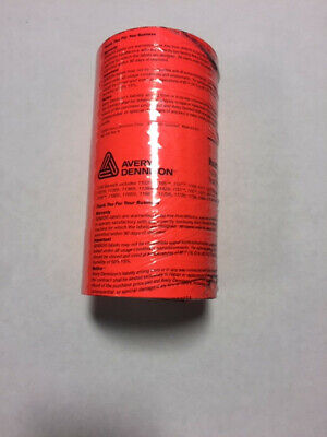 Brand New Genuine Monarch 1131 Fluorescent Red Labels Free Ink Roller