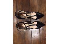 Faith Black Pantent leather shoes / Size 6 / worn once