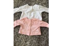 2x mothercare cardigans 0-4 months