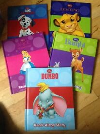 Disney box set of 5 books with read along cd.