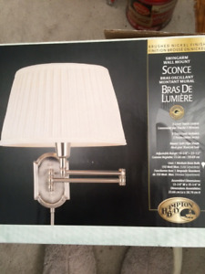 (New in Box ) Bedroom Wall Lamp asking 100.00 or BO