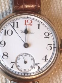 Vintage Gold Plated Watch. Very Nice Condition. Very Early Watch.