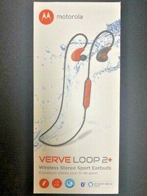 Motorola Verve Loop 2+ Waterproof Sports Wireless Bluetooth Headphones Moto