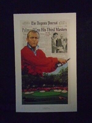 Masters Champ Arnold Palmer Third Augusta Limited Ed Douglas London Litho #248