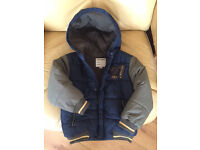 Boys padded,hooded coat, good quality, bought in Paris, like new, for 36 month old.