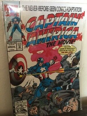Marvel's Captain America: The Movie special #1 1992. (Captain America 1992 Movie)