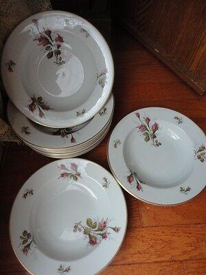 "Rosenthal Petal Lane Soup Bowl (1 bowl) Moss Roses German 8-1/8"" w Vintage"