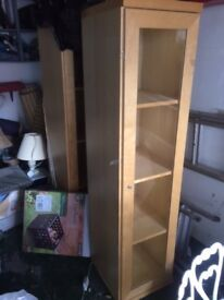 Two quality display cabinets with lighting. Price is for two, making them £15 each.