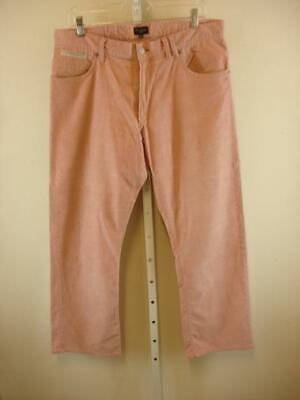 Paul Smith Jeans Pink Corduroy 100% Cotton 5-Pocket Pants Jeans Mens sz 34 X 31