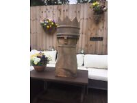 chimney pot old solid crown top