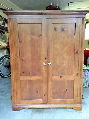Solid Wood Media Storage (Solid  Wood Entertainment Media/ Storage Cabinet Armoire )