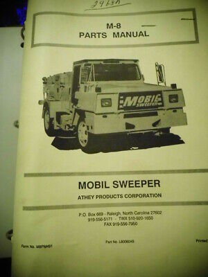 Parts Manual Mobil Sweeper M-8 Binder Fold Out Diagrams