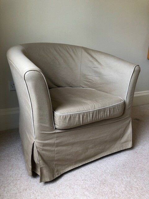 Ikea Tullsta Tub Chair Beige Fabric Good Condition 50 In