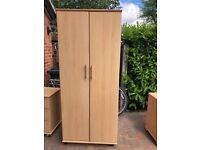 Wood Veneer Wardrobe, Chest of Drawers/Cupboard and Dressing Table
