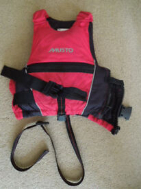 Buoyancy aid - Musto, red and black for your child