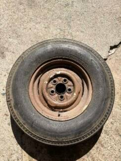 wheel rim and tyre 13 inch old holden Torana stud pattern suit tr