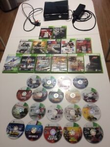 XBOX 360 With Over 30 Games and 2 Controllers