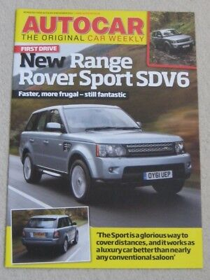 2011 RANGE ROVER SPORT  SDV6  FIRST DRIVE BROCHURE FROM AUTOCAR