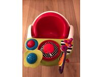 Mamas and Papas Red Snug Seat with Play Tray
