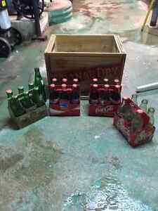 coke bottles and case