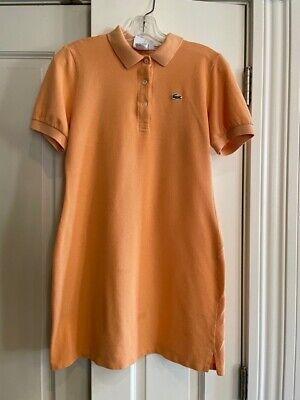 Lacoste Women's Stretch Cotton Short Sleeve Polo, Light Orange Size 42