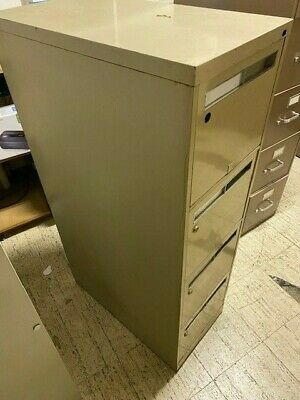 Vintage Steel 4 Drawer Metal Cabinet