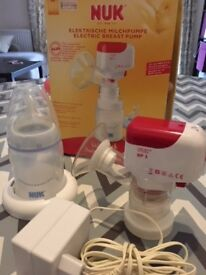 NUK electric breast pump and bottle