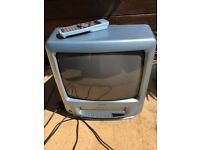 Matsui portable tv with video player.