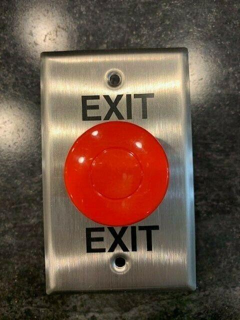 Alarm Controls Corporation Exit Button EB-1 Push Button Plastic w/ Face Plate