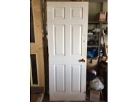 Fire door, white, used briefly