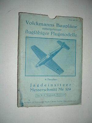 Volckmanns 9. Bauplan Jagdeinsitzer Messerschmitt Me 109 um 1940