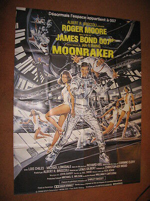"MOONRAKER (1979) - James Bond 007 Original FRENCH 47"" x 63"" VG/EX to EX (C7/C8)"