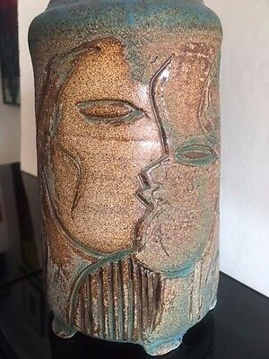 Mid Century Modern Modernist Abstract Charles Counts Studio Ceramic Pottery Vase
