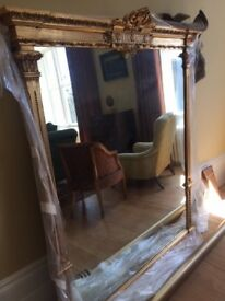 Large and Impressive Antique Mirror
