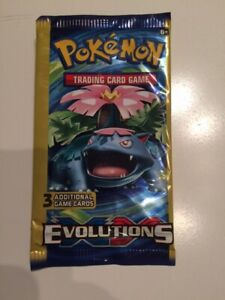 POKEMON Evolutions XY rare 3 card Booster Pack