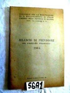 CONSORXIO MANUTENZIONE STRADE PROVINCIA DI BOLOGNA ANNO 1964  (56A1)