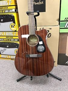 fender CD60CE All Mahogany Acoustic Guitar (new) with case Peterborough Peterborough Area image 1
