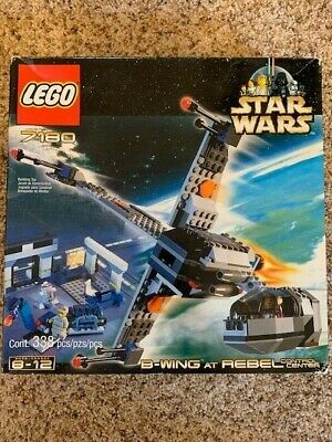 LEGO Star Wars B-Wing At Rebel Control Center Set 7180 SEALED 2000 Rare