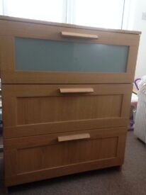 Ikea chest of drawers & bedside cabinet