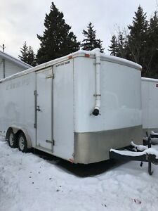 2013 8.5x16 insulated enclosed trailer and 2015 7x14 enclosed