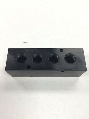 Air Cylinder Manifold Block Splitter 12 Fpt X 38 Fpt Outlet 4 Port