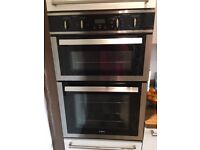 REDUCED TO £100 - CDA Double Oven, Gas Hob, Extractor Hood, Stainless Steel Chimney & Splash back