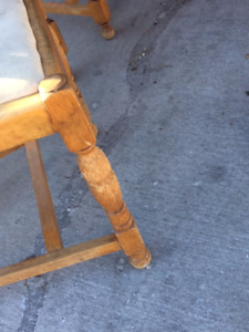 Antique Oak Table and Chair Set