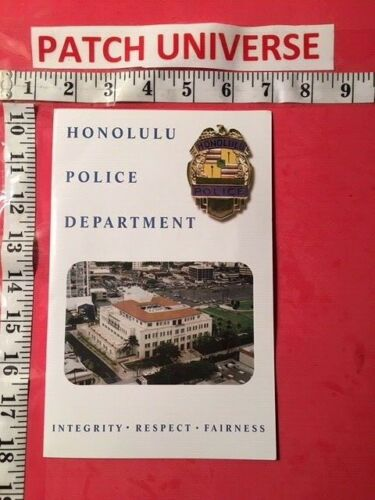OFFICIAL BOOKLET HONOLULU POLICE INCLUDES PATCH T029